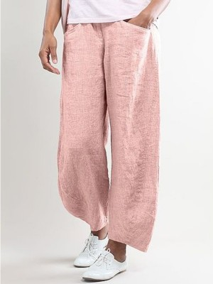 Women Pockets Shift Casual Capri Pants