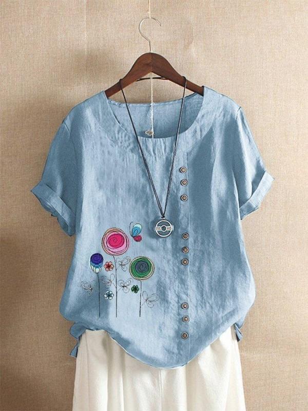Casual Shift Cotton Shirts & Tops