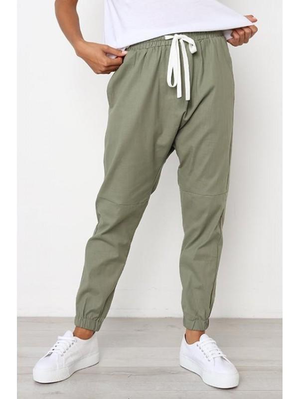 Ladies Casual Drawstring Sports Pants