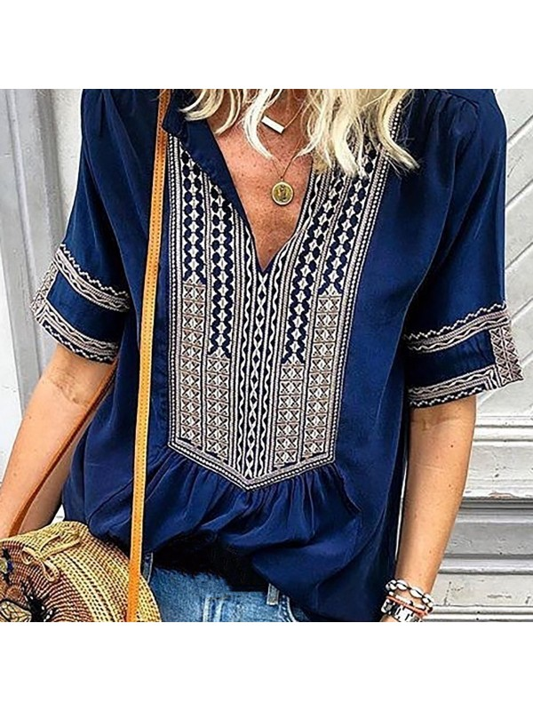Casual Printed Blouse